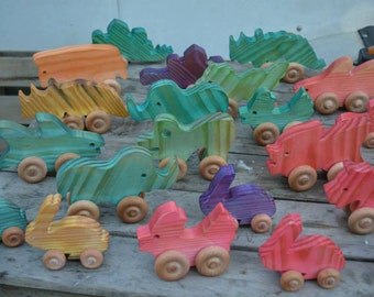 Wooden Push Toys, Colors