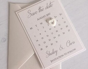 Save the date / Wedding Save the date / Calendar Save the date / Magnet save the date / Love heart save the date / Wedding Day / Invites