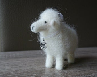 Needle felted sheep.