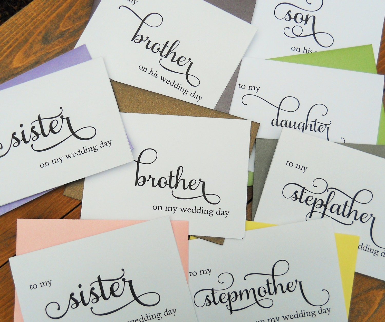 WEDDING THANK YOU Cards To My Sister To My By LongShadowPaper