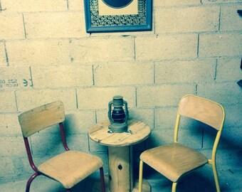 Schoolboy retro vintage industrial loft Chair