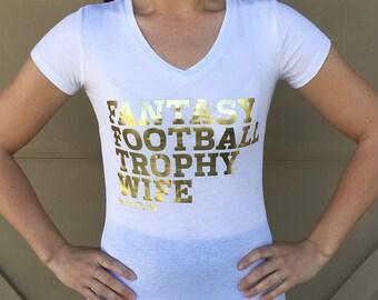 Gold Foil Fantasy Football V Neck