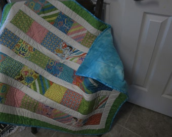 Bright colored ABC Baby Quilt