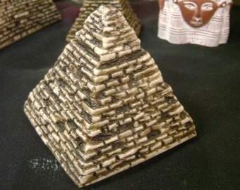 Vintage  Hand Made Egyptian Pyramid Mad in Egypt