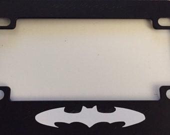 batman classic black scooter motorcycle license plate frame batman style