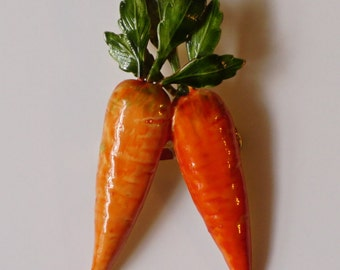 Vintage Original by Robert Two Carrot Brooch