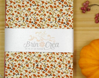 Floral little notebook, handmade & refillable