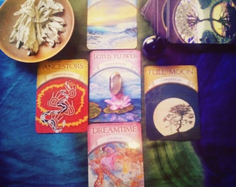 5 card oracle reading (the cross)