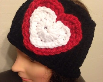 Double Heart Ear Warmer