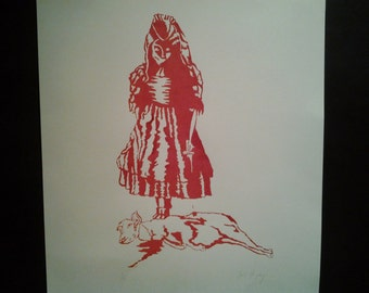 Hand pulled screen print 'Innocence'