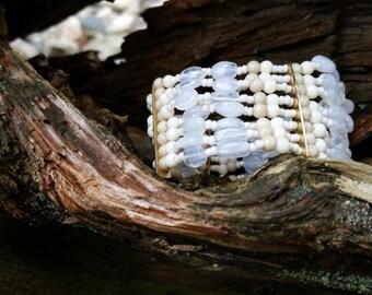 White Layered Bracelet