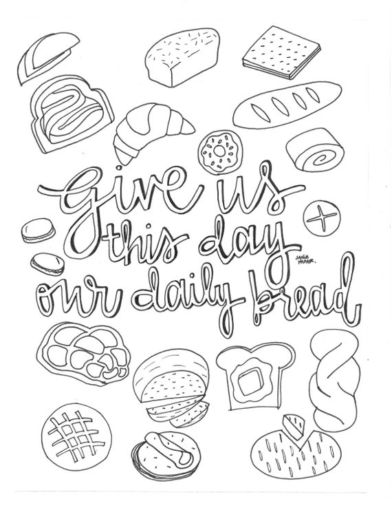 Items Similar To Give Us This Day Our Daily Bread Coloring Daily Coloring Pages