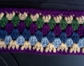 Handmade crocheted ski headband
