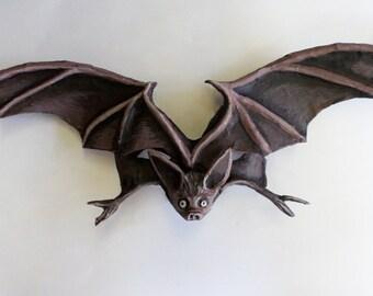 Bat Mask,chiropteran, mammal, vampire, paper mache, unique mask, wearable