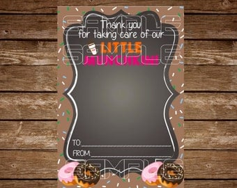 Dunkin Donuts Gift Card Holder Tag Printable