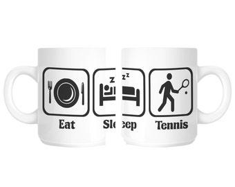 Eat Sleep Tennis Player Gift Mug shan102