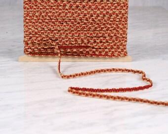 6 m Ribbon 5mm, polyester, orange and Golden (0141)