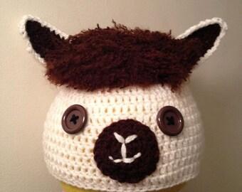 Cute Llama Crochet Hat Baby/Child