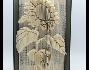 Folded Book Art- Sunflower