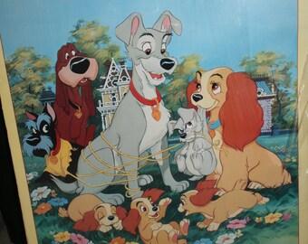 Vtg Walt Disneys 1p955 Lady and the Tramp Poster