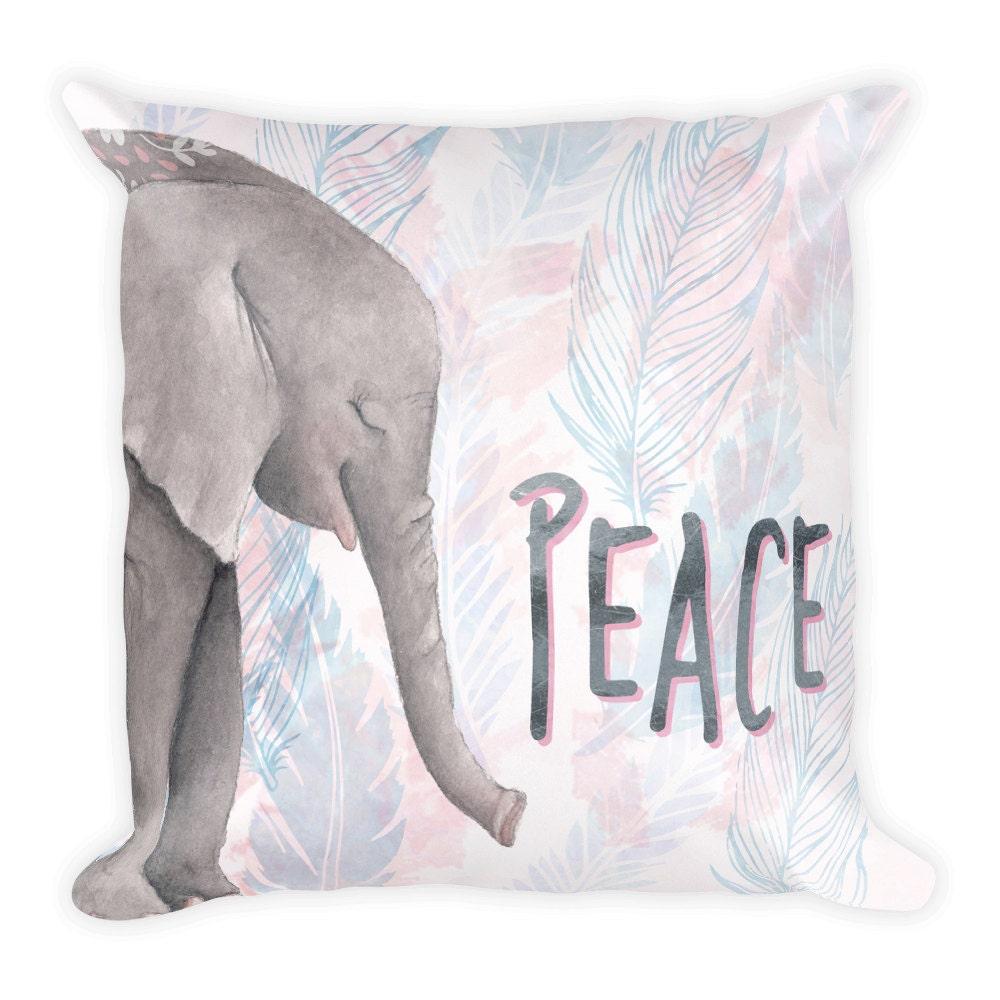 Grey Elephant Throw Pillow : Throw Pillow Elephant PillowDecorative Pillow Cover Grey