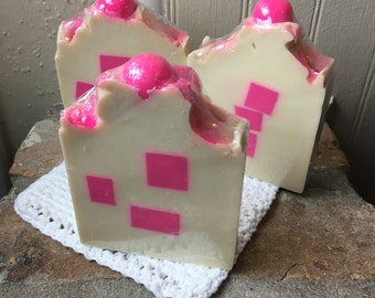 Clearance** Bubblegum - Large Bars - Handmade Soap