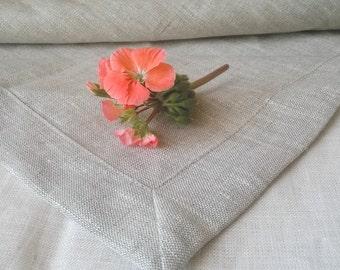 Natural Linen Tablecloth - Light Grey Linen Tablecloth - Gray Tablecloth - Wedding Linen Tablecloth - Elegant Tablecloth - Rustic Tablecloth