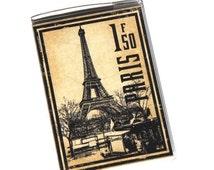 Passport Cover - Vintage Eiffel Tower Postage Stamp. Vinyl Passport Holder. Paris France. International Travel. Travel Wallet. Wanderlust.