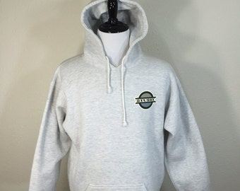 90's stussy heather gray pullover hoodie 100% cotton