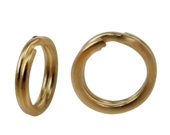 SOLID 14KT gold, round split ring 5mm