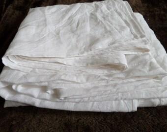 White LINEN FLAT SHEET seamless preshrunk Custom size oatmeal sheet Queen King Twin Single Full Double Natural Organic 100% Flax eco gift