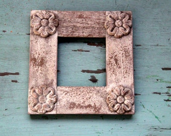 Unique Shabby Chic Wood Frame - Floral