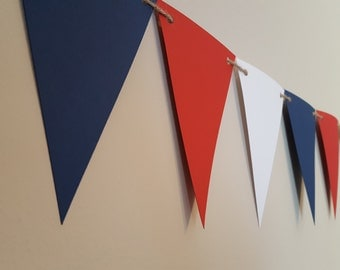 nautical birthday party decor * navy blue red and white banner * photo prop * nautical party * nautical nursery * nautical baby shower