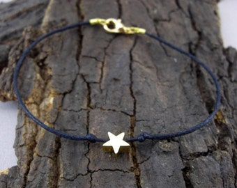 Bracelet asterisk Star Gold black