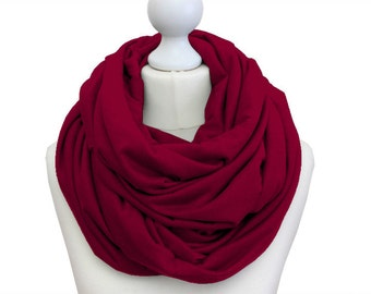 XXL scarf Berry / oversized loop scarf