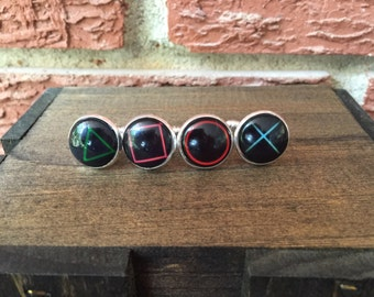 Playstation - Controller Button Symbols - Set of 4 Cufflinks