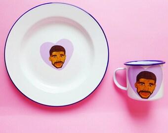 Drake Is Bae Plate and Mug Set