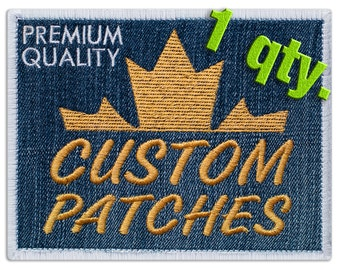 Custom Embroidered Patches max. size 4x4 inches (10x10 cm)  1 qty.