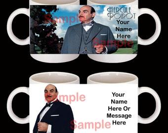 Personalised Hercule Poirot Mug