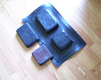 "2 PIECE PAVER mold set....6"" x 6""  and  6"" x 9"" inch...diy make stone for .35 cts sqft"