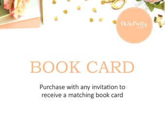 Book Card Add On To Match Your Invitation