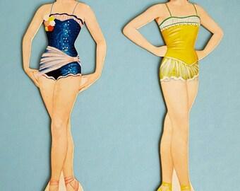Vintage Ballet Paper Dolls - Linda Ballet - Paper Dolls - 1950s