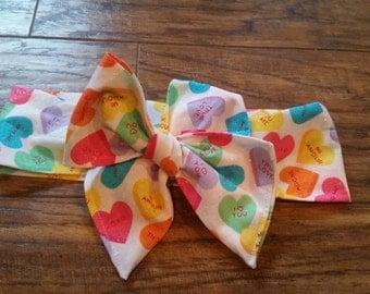 Glitter Conversation Heart headwrap