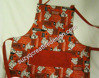 Disney 101 Dalmations Apron 4-6 yr old