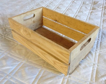 Wooden Utility Crate from reclaimed boards.
