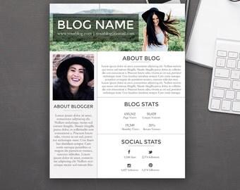 Media Kit Template - Blogger Media Kit - Photoshop PSD *INSTANT DOWNLOAD*