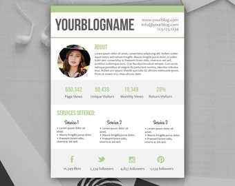Ad rate sheet blog rate kit photoshop psd instant blogger media kit photoshop psd template instant download pronofoot35fo Image collections