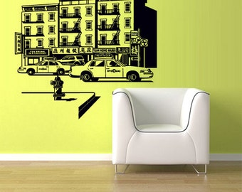 rvz1116 Wall Vinyl Sticker Bedroom Chinatown City Town