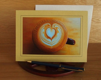 Latte Art Photo Greeting Card