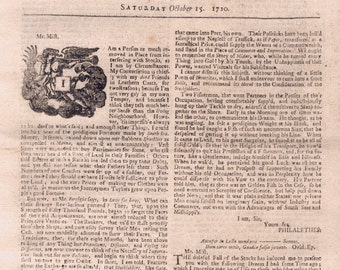 2 antique (1720's) extremely rare Newspapers - Bartholomew Roberts - Black Bart